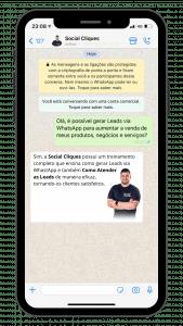 leads via whatsapp social cliques